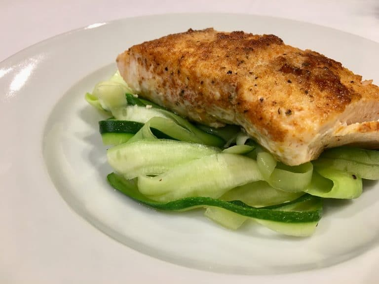Recipe of the Week #14: Blackened Salmon with Garlic Zucchini Noodles