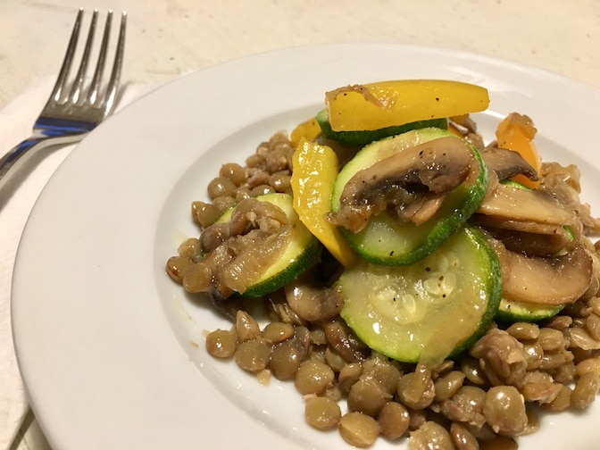 Recipe of the Week #15: Roasted Vegetables over Spiced Lentils